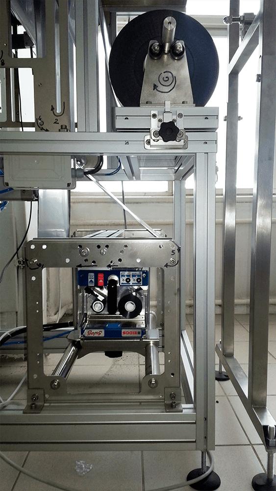 Принтер интегрирован в упаковочную машину