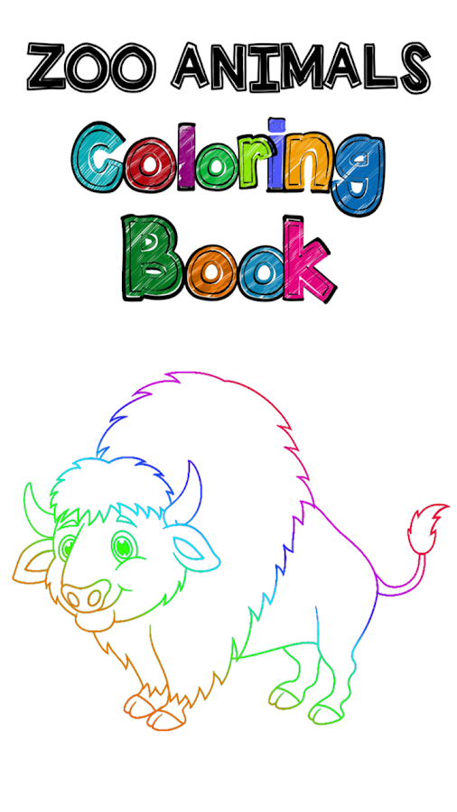 Zoo Animals Coloring Book Screenshot