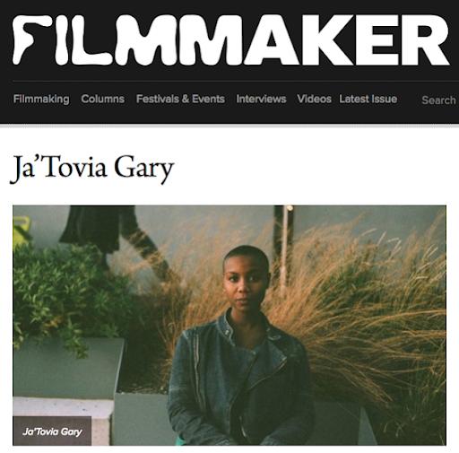 Ja'Tovia Gary Filmmaker