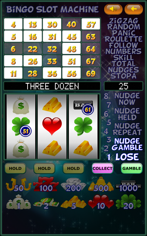 Slot Machine Bingo Patterns