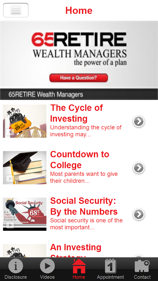 65Retire Wealth Managers- screenshot