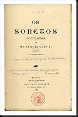 Sonetos - Antero Quental