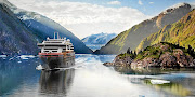 The MS Roald Amundsen, seen here in Alaska, is the world's first hybrid electric-powered expedition ship.
