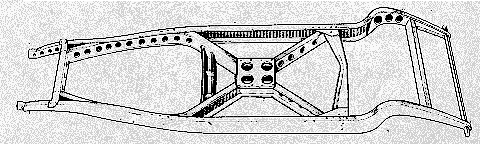 Cruciform Braced Chassis frame