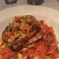 Grouper with risotto