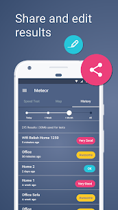 Meteor: Speed Test for 3G, 4G, Internet & WiFi 5