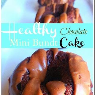 Healthy Chocolate Mini Bundt Cakes.