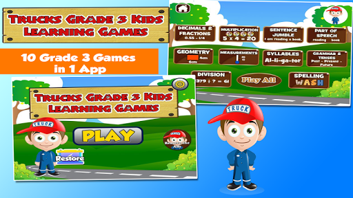 Learning Games for 3rd Graders
