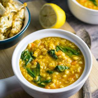 Golden Lentil Barley Soup Recipe