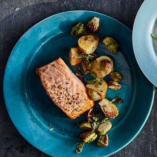 Roasted Salmon and Brussel Sprouts