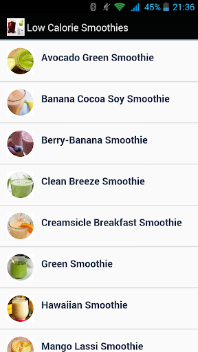 Low Calorie Smoothies