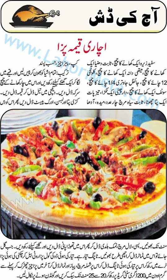 Pakistani Food Recipes In Urdu Language