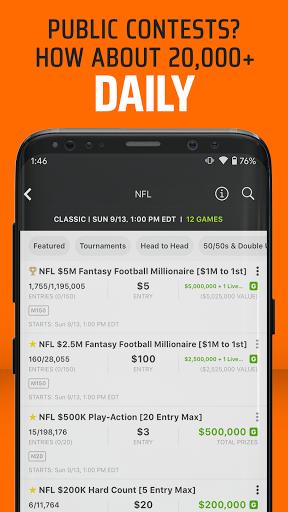 DraftKings - Daily Fantasy Football for Cash 3.89.448 screenshots 3
