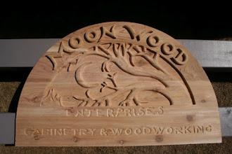 Photo: Moonwood Enterprises Hand Wood Carving, more carved signs at www.nicecarvings.com