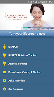 SHAPER Bariatric Surgery App- screenshot thumbnail