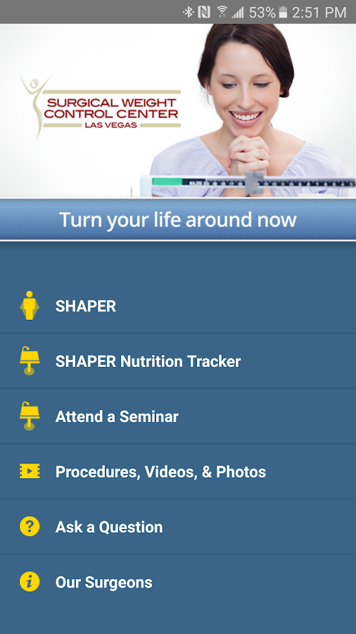 SHAPER Bariatric Surgery App- screenshot