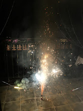 Photo: ベランダで花火。