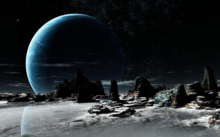 android Neptune Planet Live Wallpaper Screenshot 1