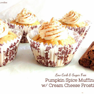 Pumpkin Spice Muffins w/ Cream Cheese Frosting