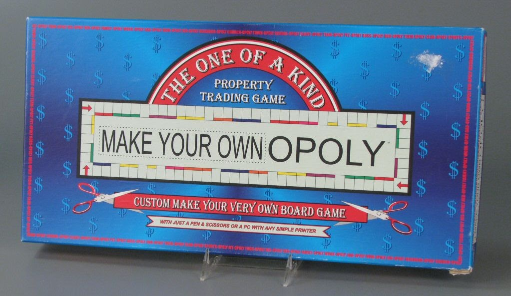 Board Gamemake Your Own Opoly The One Of A Kind Trading