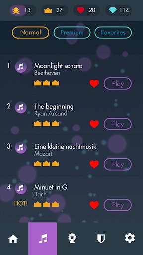 Piano Classical Magic Game White Tiles 4  screenshots 4