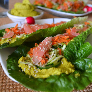 Vegan Coconut Curry Lettuce Wraps.