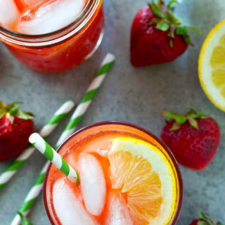 Pink Strawberry Lemonade Cocktail.