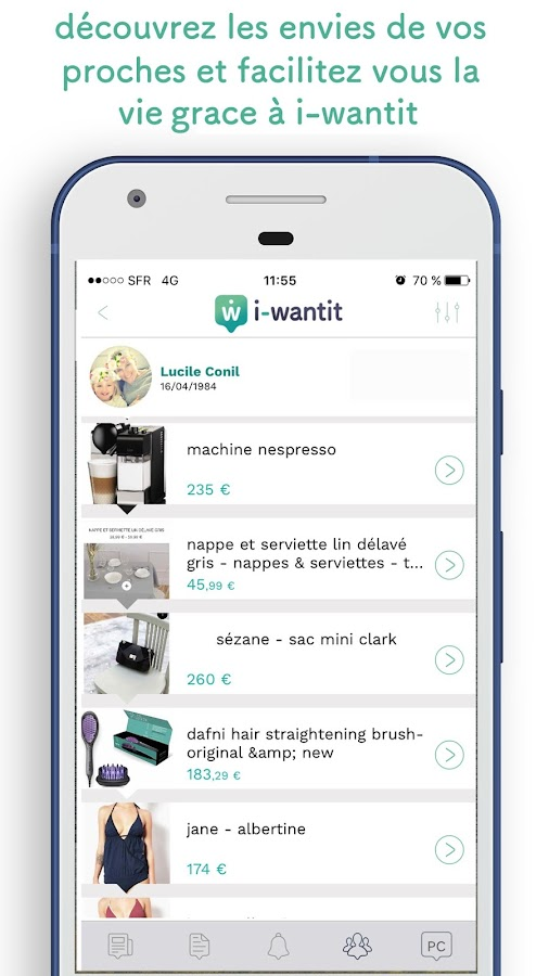 i-wantit: liste tes envies- screenshot