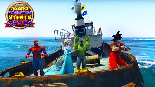 Quads Superheroes Stunts Racing 1.5 screenshots 8