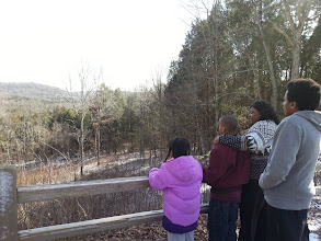 Photo: looking out at an overlook section in the park