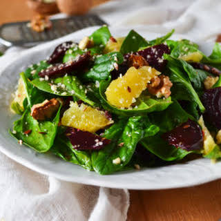 Baby Spinach & Roasted Beet Salad.