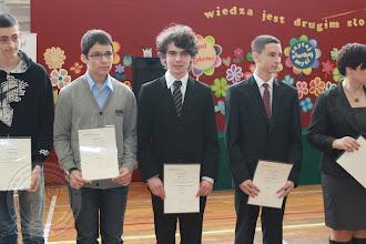 Photo: Laureaci Wojewódzkich Konkursów Przedmiotowych - M. Janel 3e informatyka