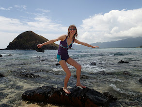 Photo: Surfing a rock (at Kailua).