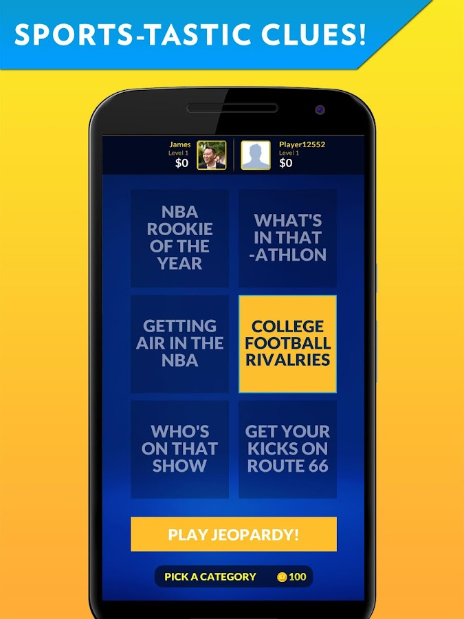Sports Jeopardy!- screenshot