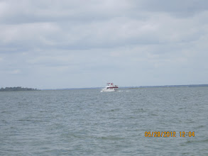 Photo: Jim and Sheila Mica passing us coming into Back Creek.