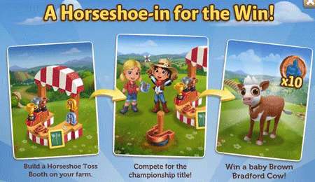 Farmville 2 horseshoe toss booth