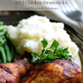 Slow Cooker BBQ Chicken Drumsticks with Mashed Potatoes