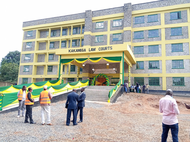 The new Kakamega law courts opened on Friday by Chief Justice David Maraga