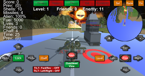 Armour Helicopter vs Aliens- screenshot thumbnail