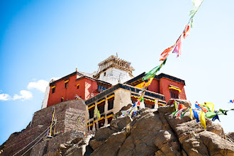 Photo: This is Namgyal Gompa, perched on a cliff above Leh. The Gompa was founded around 1430 and it got a huge Maitrieya Buddha statue but that part of the Gompa is unfortunately closed to the public. The views from the top are fabulous and well worth the trek.  #SacredSunday (curated by +Charles Lupica and +Manfred Berndtgen) #ZenSunday (curated by +Charlotte Therese Björnström)