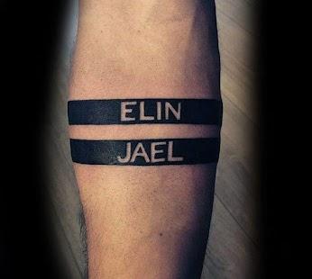 Name Tattoo - Name tattoo on my photo - náhled
