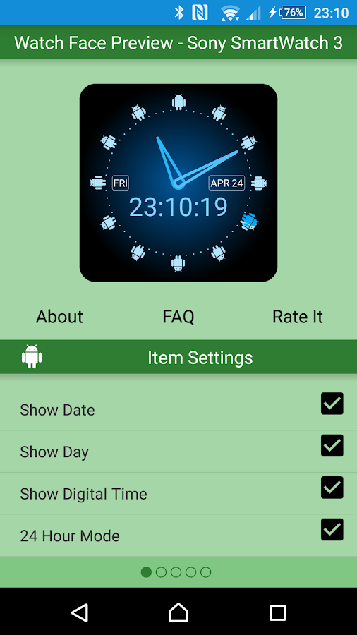 Green Droid Watch Face Lite- screenshot