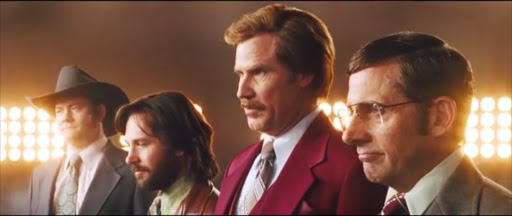 A still from the trailer for 'Anchorman: The Legend Continues', the sequel to the 2004 hit film 'Anchorman: The Legend of Ron Burgundy'.