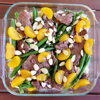 Beef and Green Beans over Orange Rice
