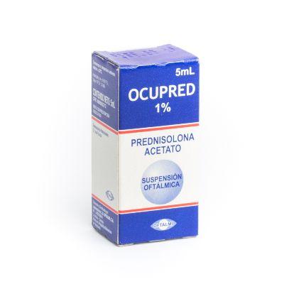 Prednisolona Acetato Ocupred 1% Suspensión Oftálmica X 5 Ml Oftalmi