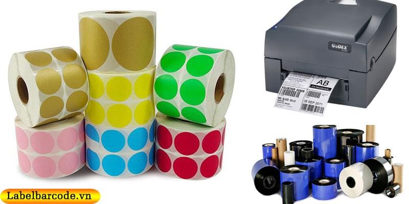 In decal bế tròn sử dụng đi kèm với máy in và mực in mã vạch