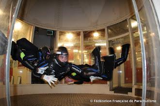 Photo: le VR4 Open Volt'R, en entrainement à Eloy en soufflerie, Eloy 2014