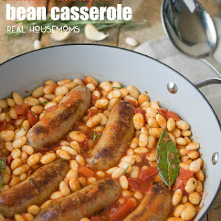 Italian Sausage And Bean Casserole.