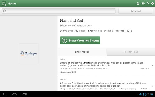 Plant and Soil- screenshot thumbnail