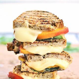 Grilled Peach, Mozzarella and Basil Sandwich Recipe